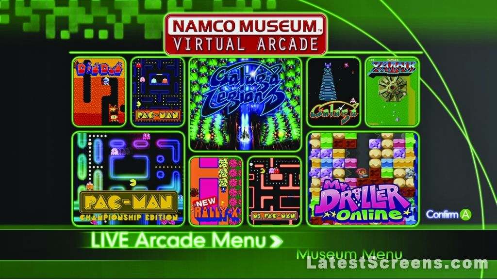 All Namco Museum Virtual Arcade Screenshots For Xbox 360