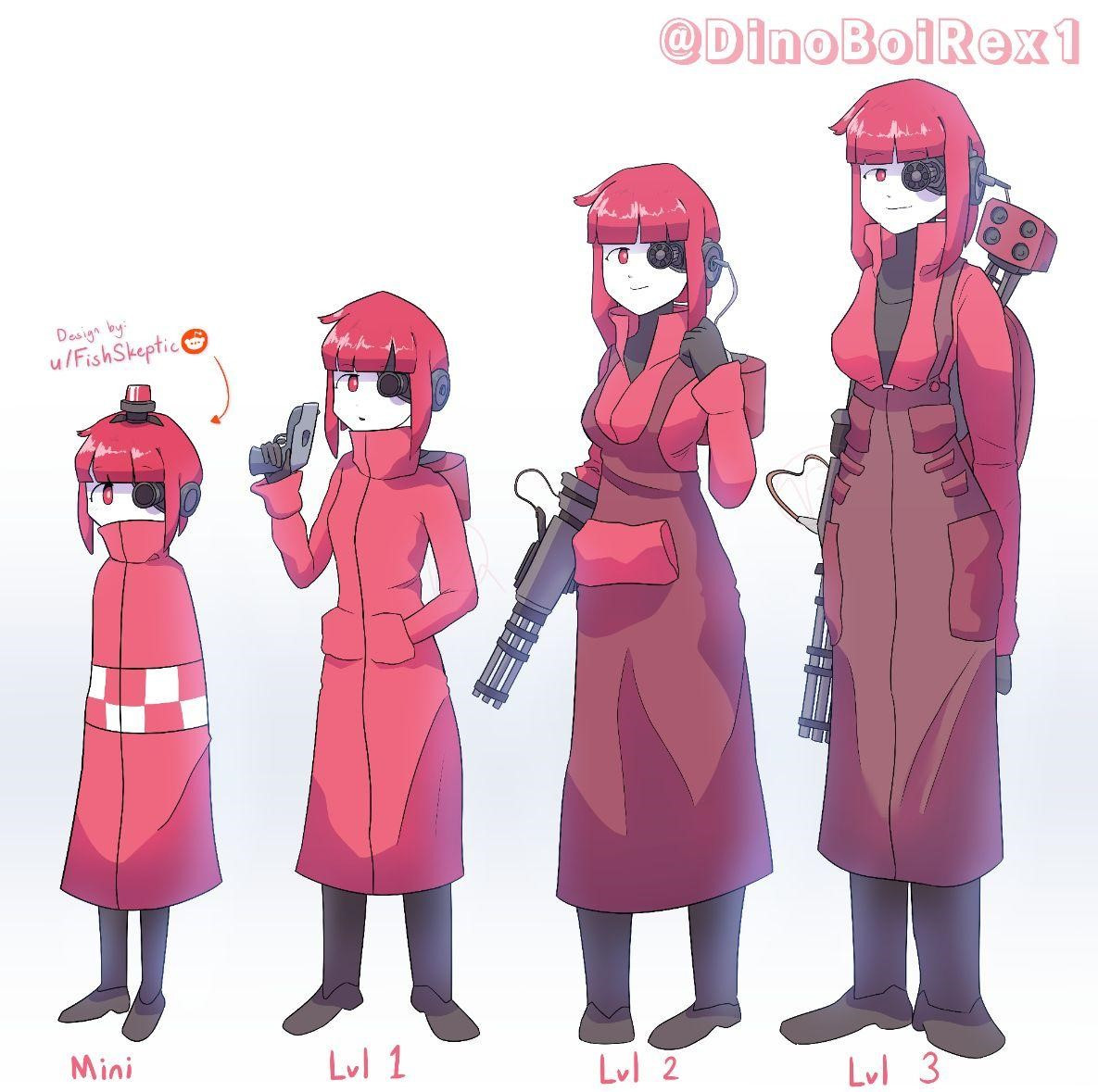 Why not include those in and allow players to be male or female. Sentry Girl over the normal Sentry Model Team Fortress 2 Requests