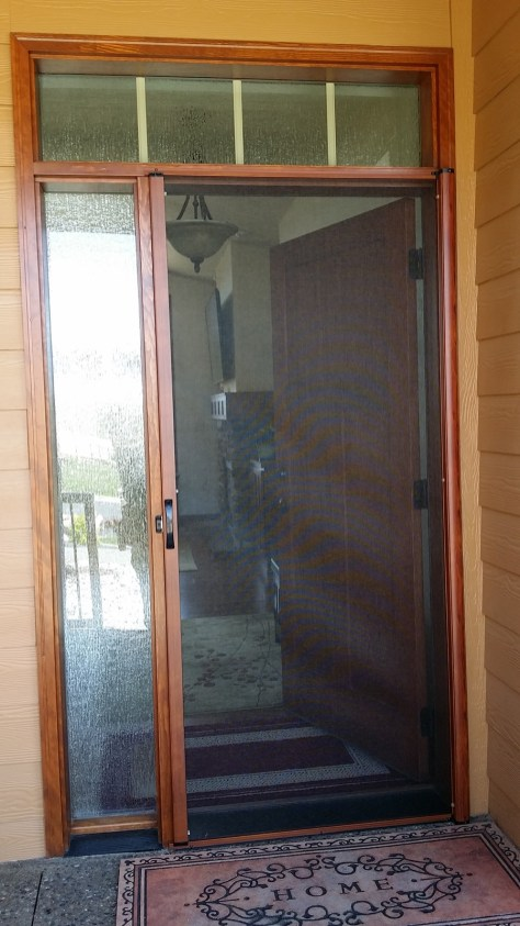 Single Screened Door