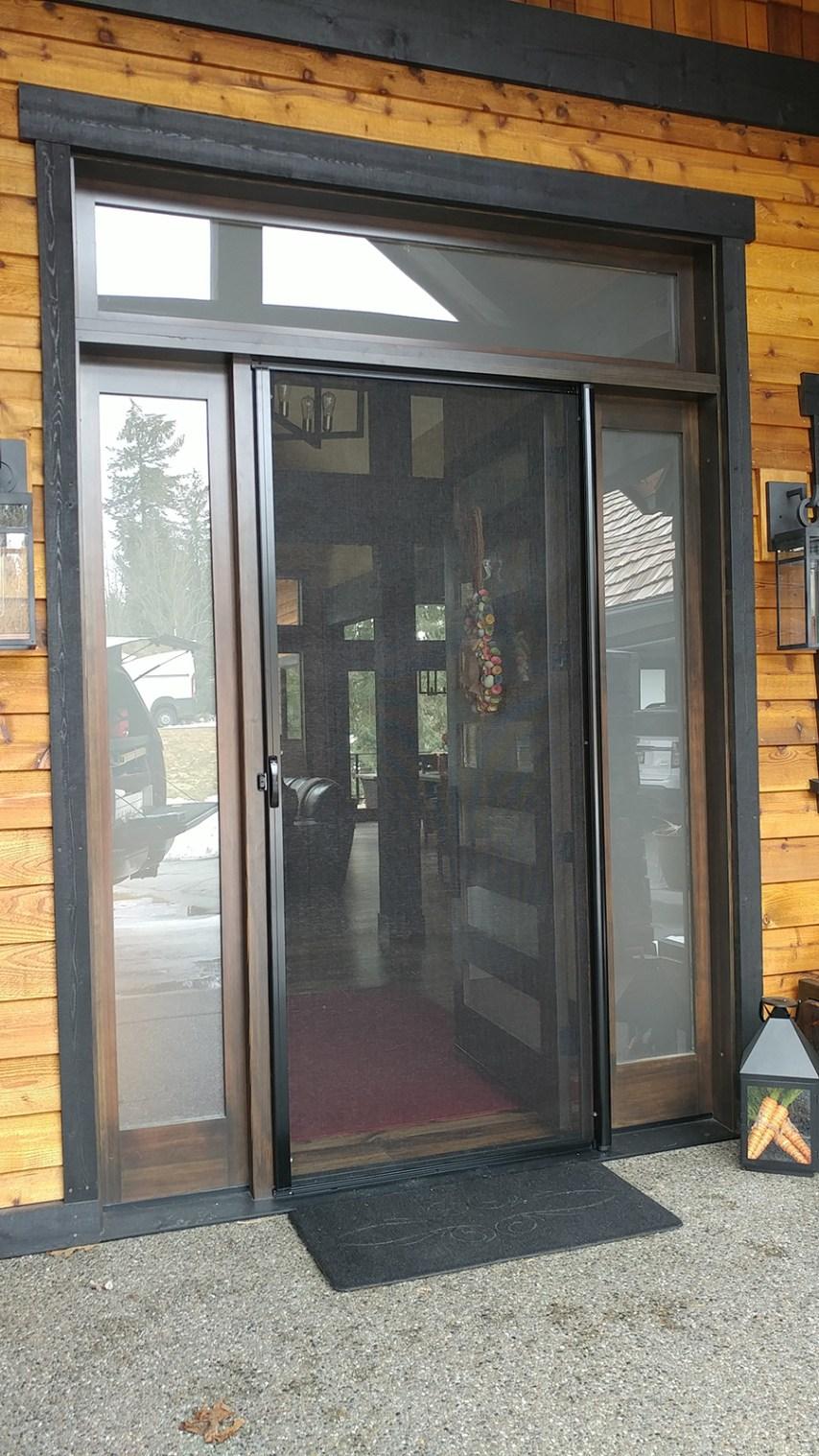 Single Screened Door Entrance