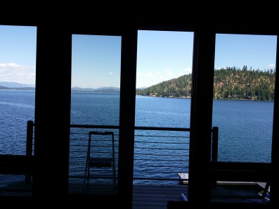 Sliding Door Overlooking Lake