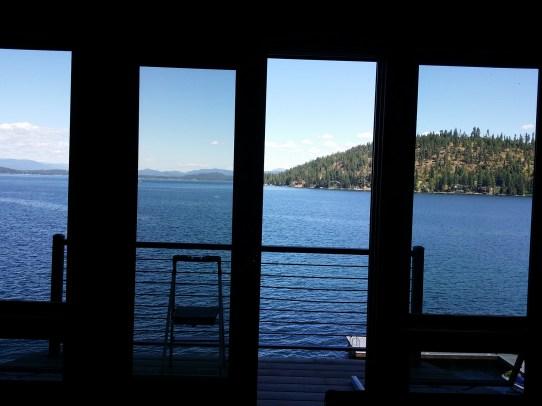 Sliding Door Overlooking Lake