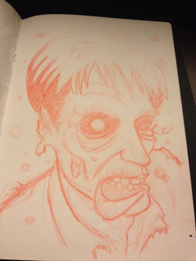 self portrait zombie rough