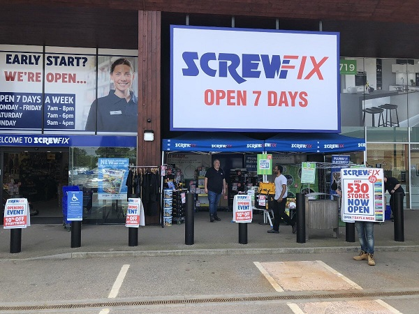 Oxford's second Screwfix store is declared a runaway success