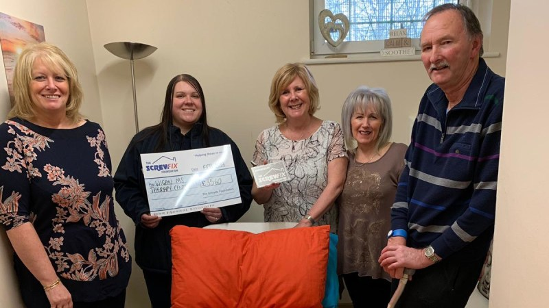 Wigan MS Therapy gets a helping hand from the Screwfix Foundation