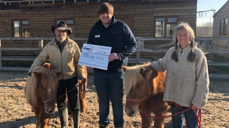 Horses Helping People receives funding from the Screwfix Foundation