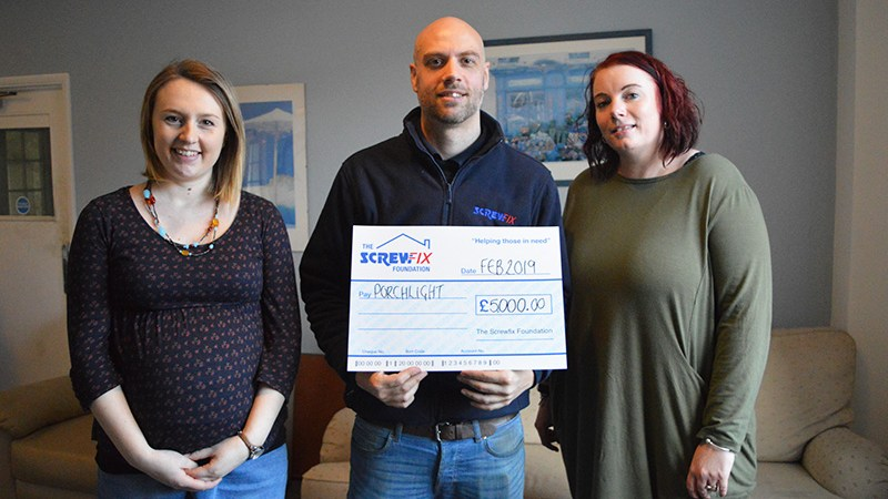 Porchlight Charity gets a helping hand from the Screwfix Foundation