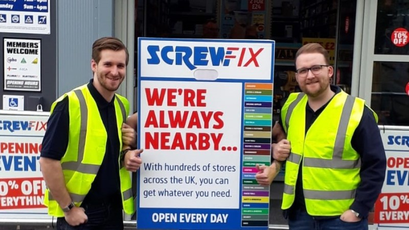 Screwfix opens its doors in Linlithgow