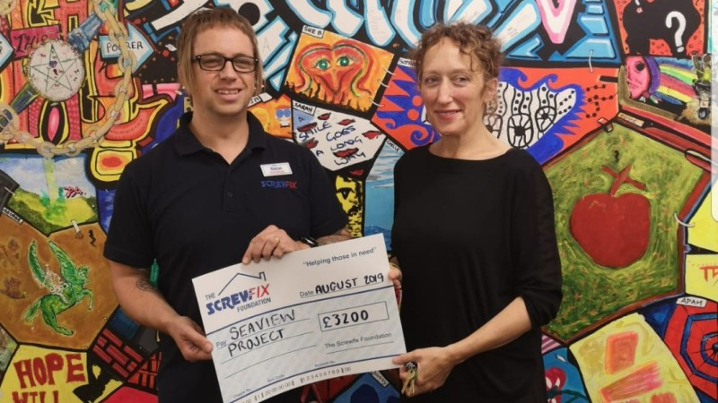 Seaview Project receives a helping hand from The Screwfix Foundation