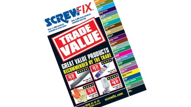 Screwfix Offers Added Value With New Catalogue