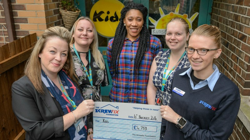 Almondsbury based charity gets a helping hand from The Screwfix Foundation