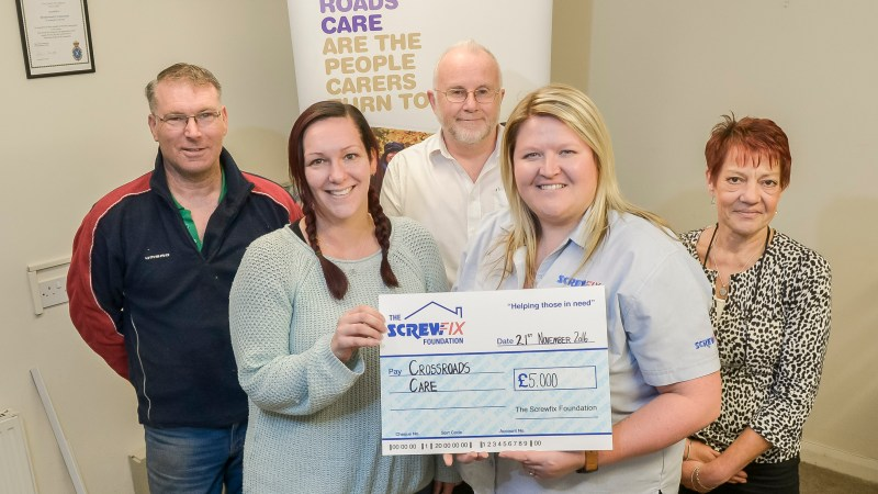 Essex based charity gets a helping hand from the Screwfix Foundation