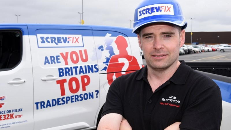 Electrician from Wigan is highly commended in Screwfix's search for Britain's Top Tradesperson 2017