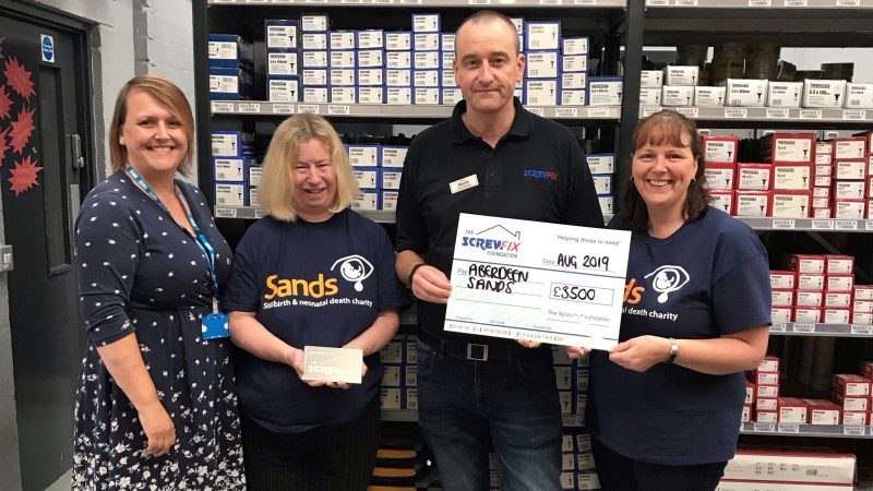 Aberdeen Sands gets a helping hand from the Screwfix Foundation