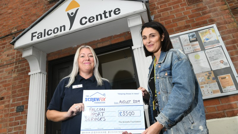 Falcon Support Services receives a helping hand from The Screwfix Foundation