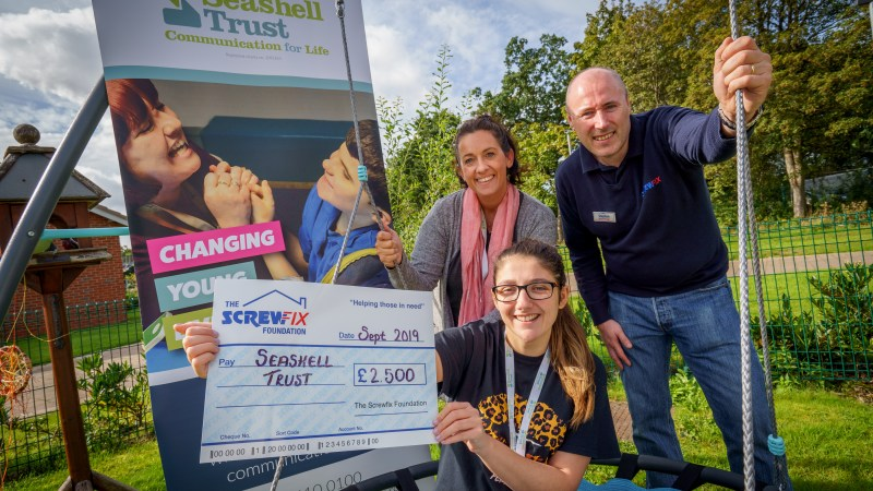 The Screwfix Foundation supports Seashell Trust in Cheshire