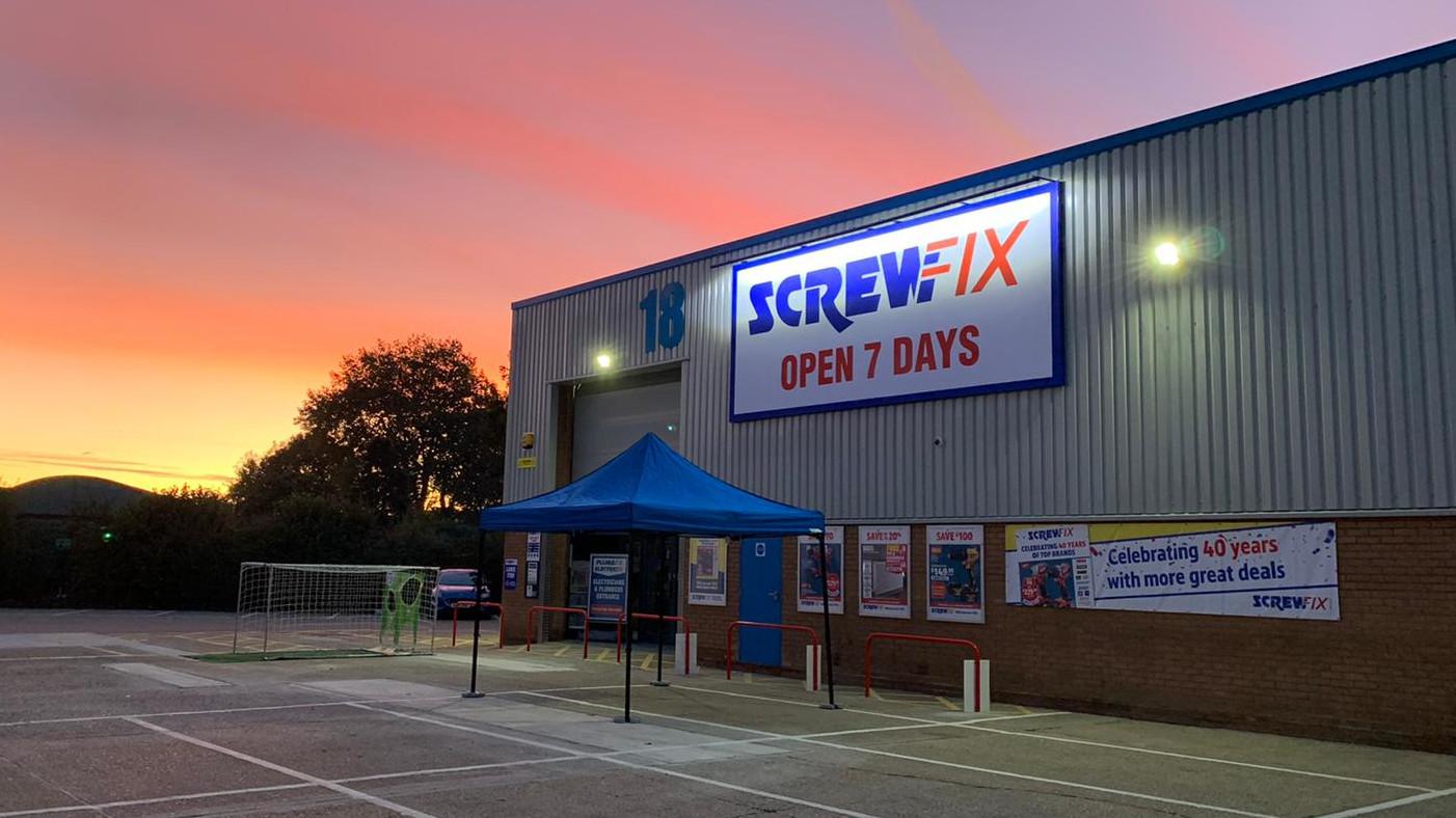 Hertford celebrates new Screwfix store opening