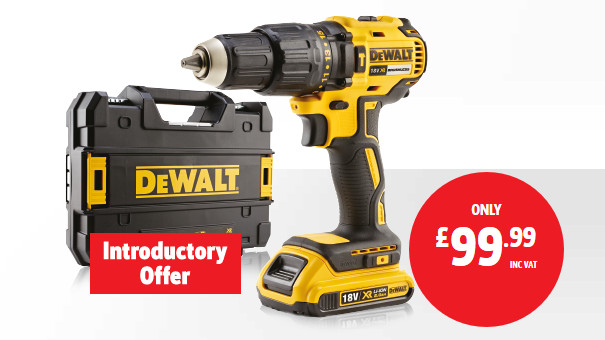 Lowest ever price on DeWalt Brushless Combi Drill from Screwfix