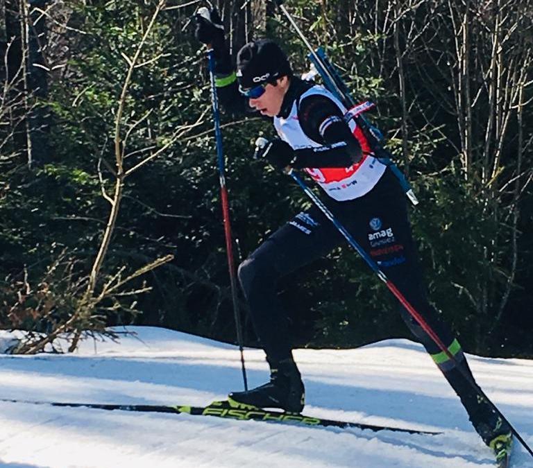 Belle performance de James aux Championnats suisses U17 de biathlon