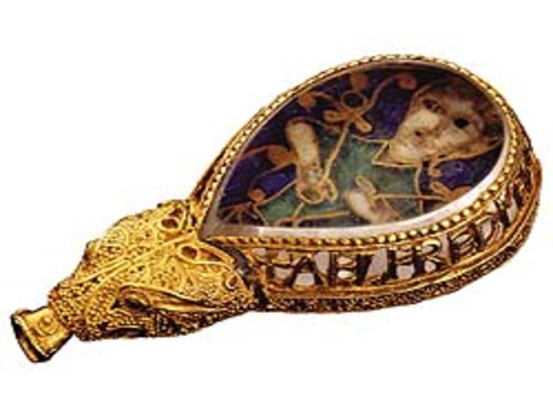 The Alfred Jewel, shamelessly purloined from Scribal Terror