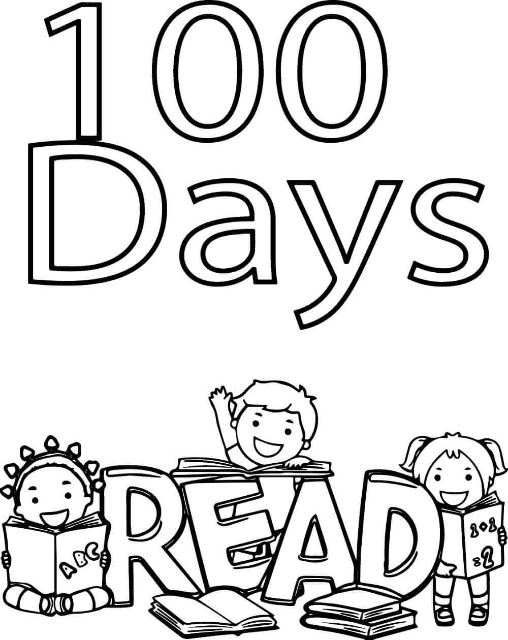 100 Days Coloring Pages : coloring, pages, Printable, School, Coloring, Pages