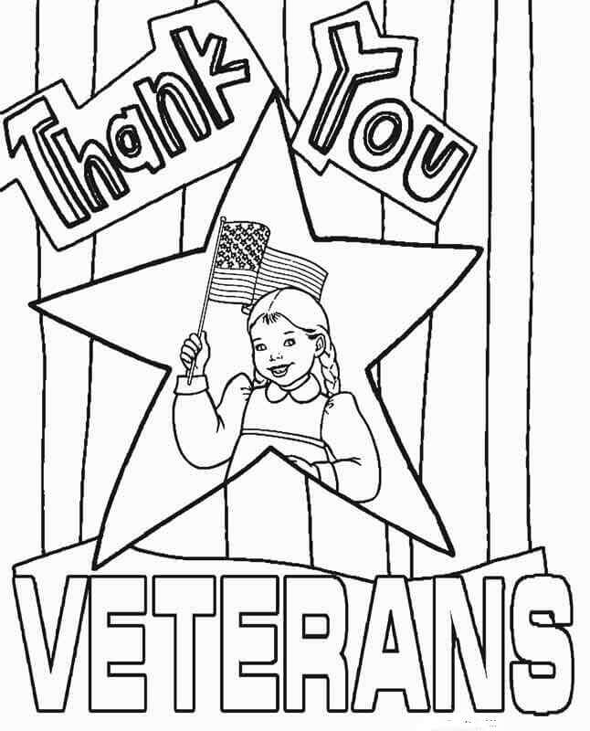 Thank You Veterans Coloring Pages : thank, veterans, coloring, pages, Printable, Veterans, Coloring, Pages