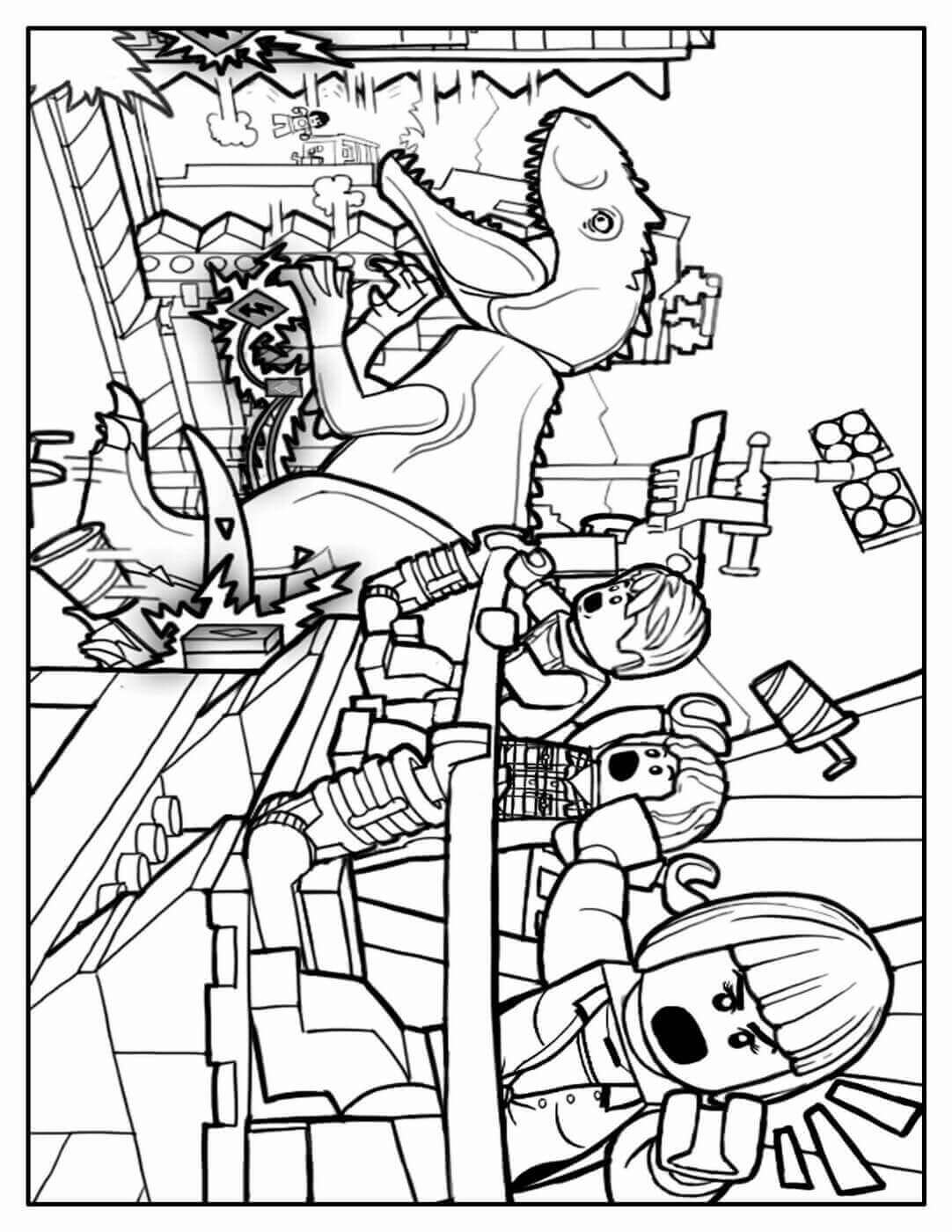Jurassic World Lego Coloring Pages : jurassic, world, coloring, pages, Printable, Jurassic, World, Coloring, Pages