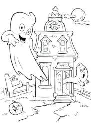 haunted coloring halloween pages printable mansion ghost drawing sheets friendly simple houses scary print getdrawings adult scribblefun getcoloringpages easy getcolorings