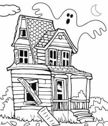 haunted coloring pages printable scribblefun