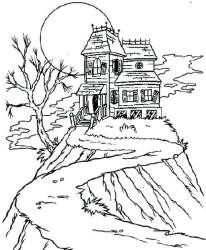 coloring haunted printable pages scribblefun listeners