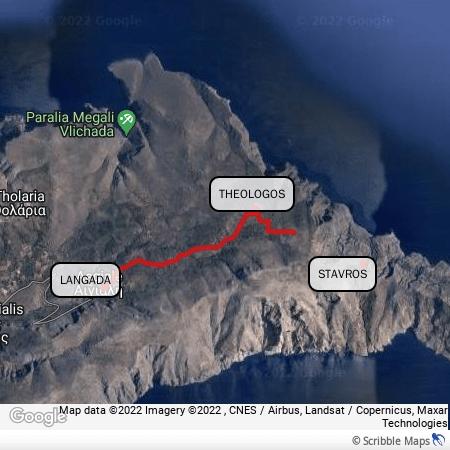 Il percorso da Langada a Stavros