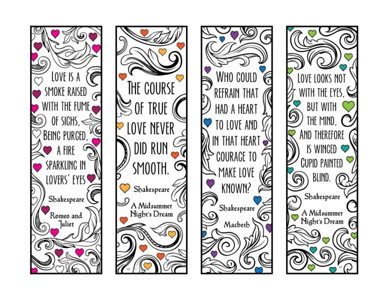 Five Beautiful Amp Inspiring Book Quote Bookmarks To Print