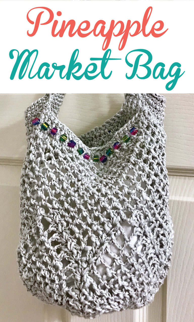 Pinterest Challenge Crochet Pineapple Market Bag Free Pattern