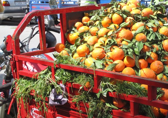 oranges, Tangiers, Morocco, market