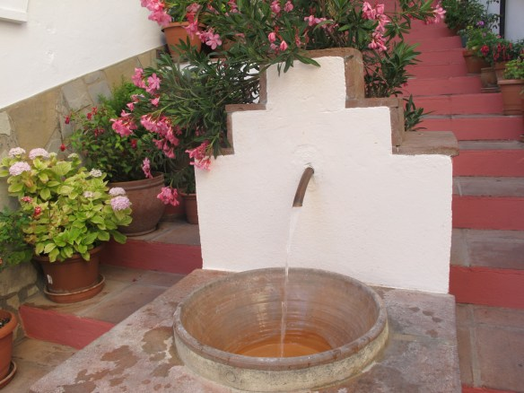 Pretty fountain in Benamahoma, which is famous for its natural spring water.