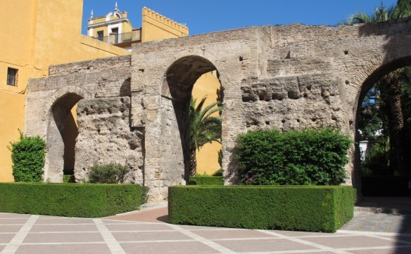 This triple stone arch is one of the Alcazars only remaining Moorish features.