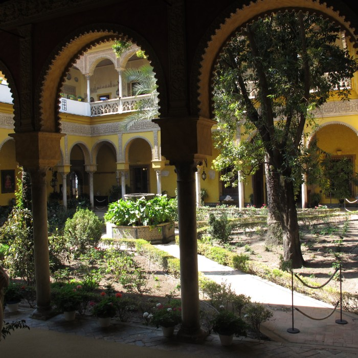The main patio with its mudejar arches.