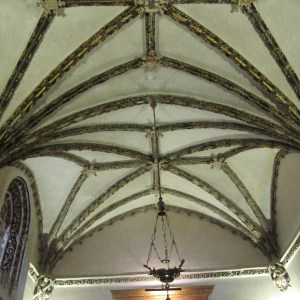 Another symphony of a roof, in the chapel.