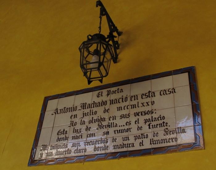 The Spanish poet Antonio Machado was born in the palace in 1875.