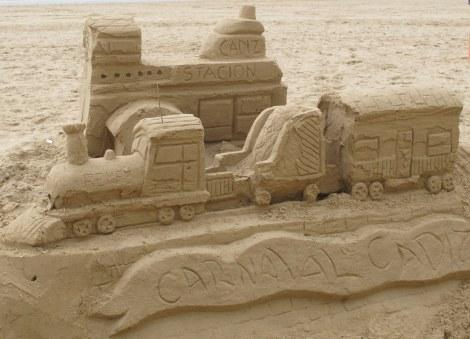 sand sculpture, Carnaval, Cadiz, Carnaval de Cadiz, family, beach, Playa de Caleta