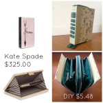 kate spade book clutch knock off