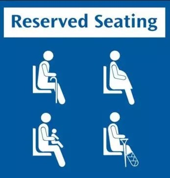 Singapore's MRT Reserved seating sign