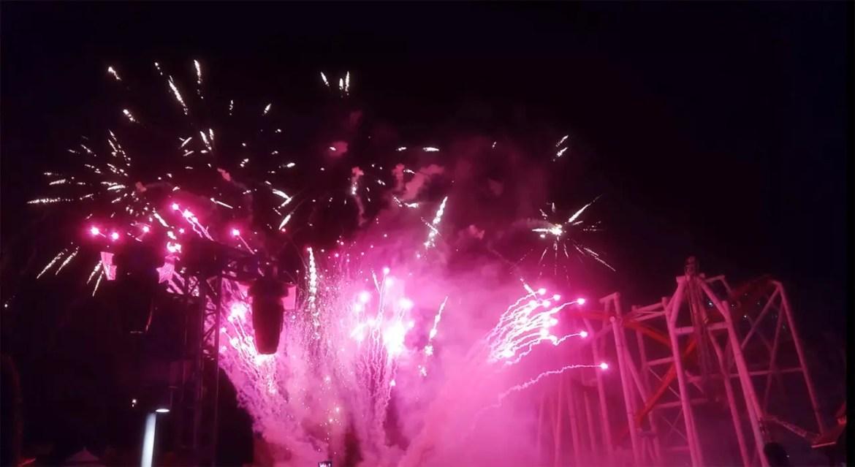 Christmas Eve Fireworks, Universal Studios Singapore.