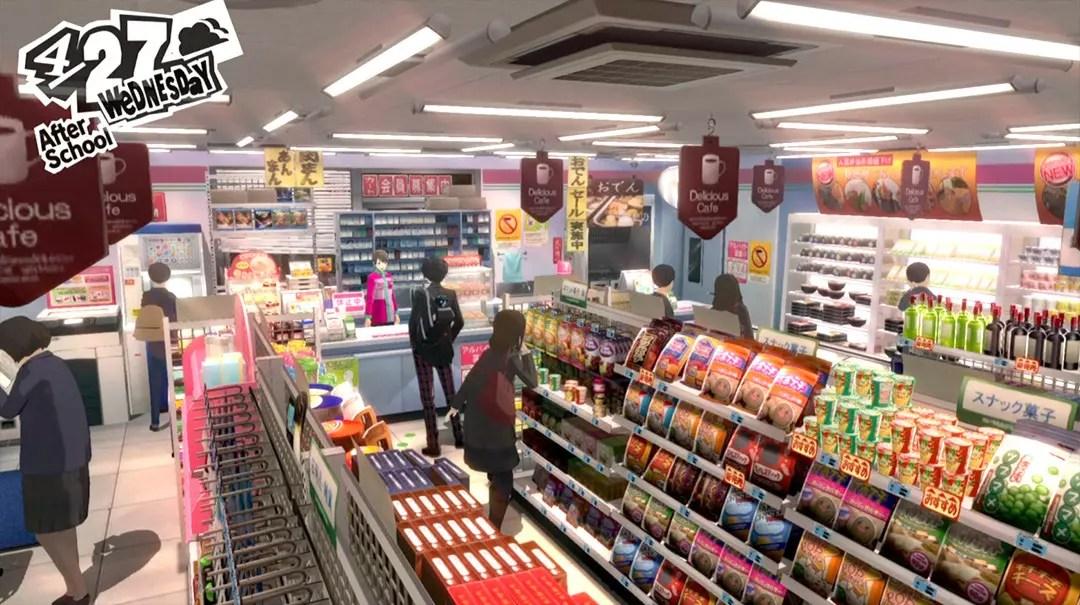 Persona 5 Screenshots: Convenience Store