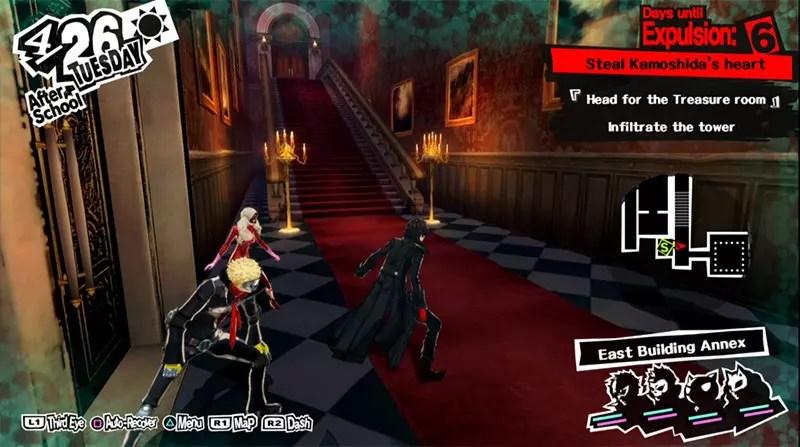 Persona 5 Kamoshida's Castle Screenshot.