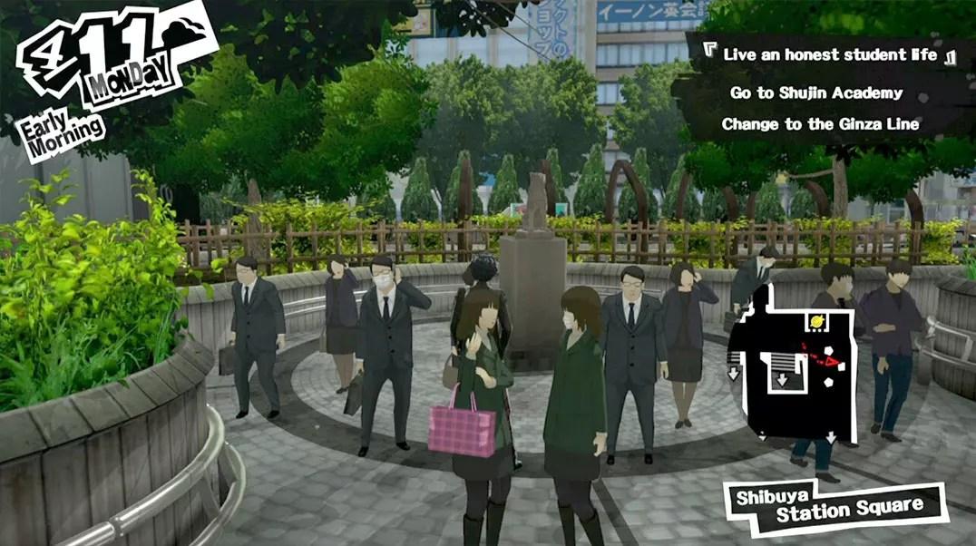 Persona 5: Hachiko Statue at Shibuya Station