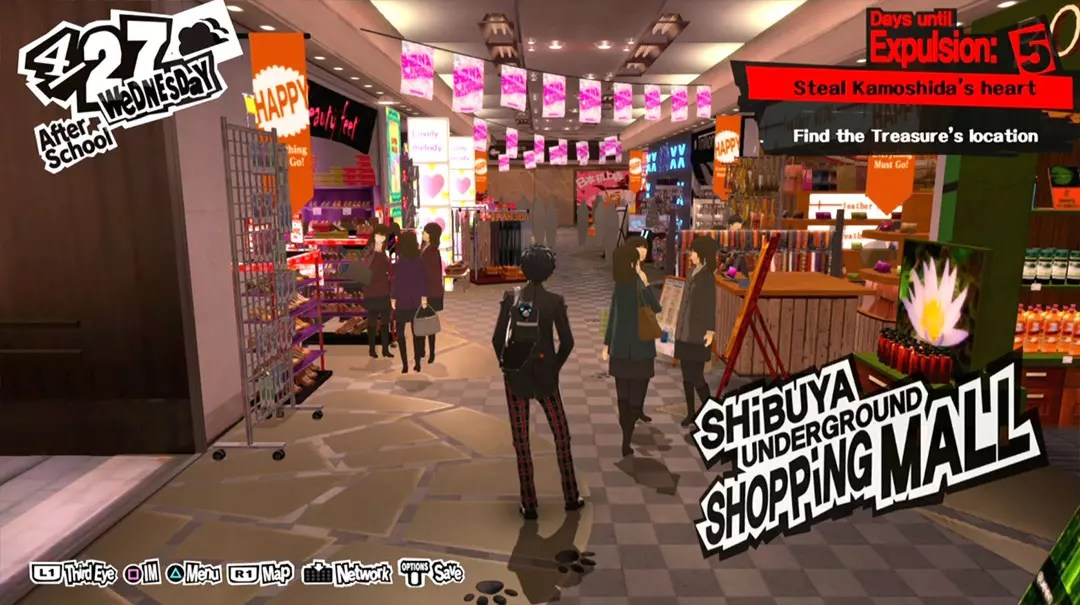 Persona 5 Screenshots: Shibuya Station Underground Mall