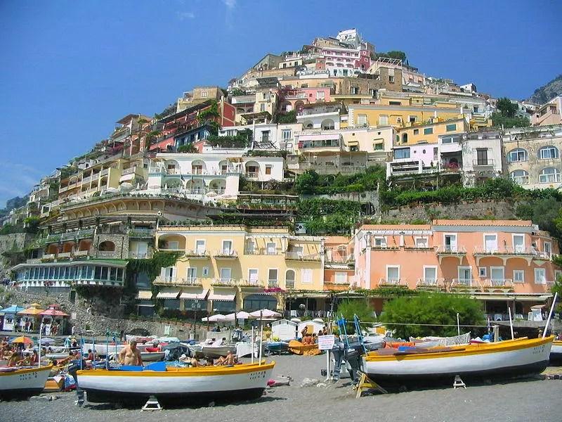 Positano Houses and Beach.