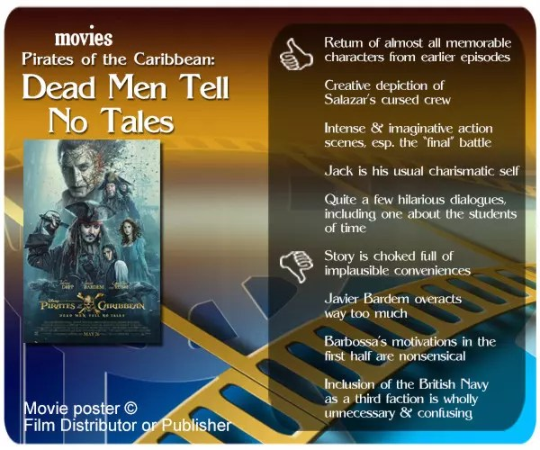 Pirates of the Caribbean: Dead Men Tell No Tales movie review.