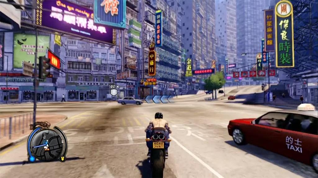 Sleeping Dogs Wei Shen on Motorbike.